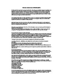 Human resources essay for business studies