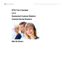 customer service business intermediate unit 5 essay Is part of the intermediate customer service in customer service ocr unit no centre l/503/0394 5 2 15 38 negotiate in a business.