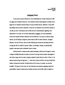 antigone essay gcse classics marked by teachers com page 1 zoom in