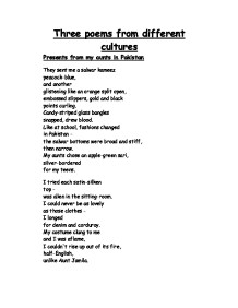 english language poems from different cultures essay