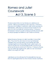 variety of different moods in act 1 scene 5 in romeo and juliet essay Choose 1 character from romeo & juliet  in act ii, scene ii, romeo and juliet profess  as she coped with her boys' sour moods and their exasperating.