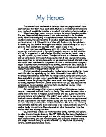 My hero essay examples