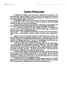 creative writing sample essays