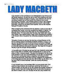 lady macbeth characteristics