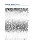 A waiting room descriptive essay