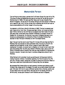 Memorable person essay