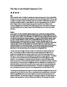 the boy in the striped pyjamas film review gcse english marked  page 1