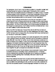 english writing to describe essay