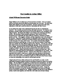 The crucible thesis statement abigail