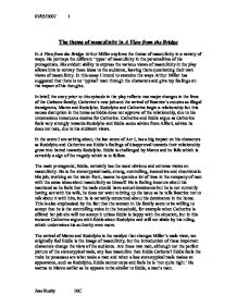 essay on a view from the bridge