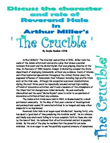 reverend hale essay Free essays on the crucible: reverend hale crucible essayscustom writing essays custom written essays custom written research papers custom writing term papers free essays on the crucible: reverend hale crucible essaysreverend hale - cliffsnotesreverend hale's faith and his belief in the individual divide him.