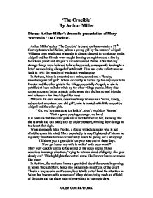 millers dramatic presentation essay