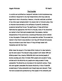 writer of the crucible