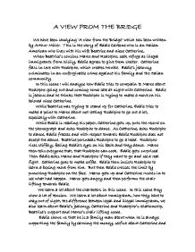 a view from the bridge essay essay