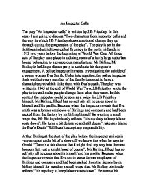 an inspector calls by j.b. priestley essay This one-page guide includes a plot summary and brief analysis of an inspector calls by jb priestley an inspector calls by jb priestley is a and essay topics.