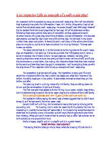 Inspector Calls Essay, Exploring Inspector Goole's character - GCSE ...