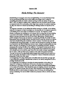 essays sybil birling English literature revision section covering questions on the key character sybil birling in an inspector calls by j b priestley.