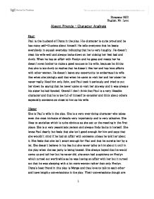 Absent Friends Character Analysis - GCSE English - Marked by
