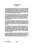 z for zachariah gcse english marked by teachers com of mice and men chapter 7