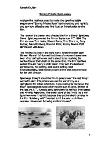 saving private ryan media essay Saving private ryan is a great war movie and has the best depiction of the d-day invasion that has ever been presented on film essay on media violence.
