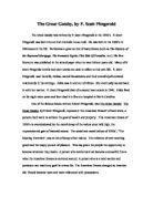 gatsby essay moral decay