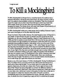 in the style of harper lee, write a section of to kill a mockingbird essay Essay writing blog log in search for: search  3 important themes in to kill a mockingbird  an analysis of good and evil in to kill a mockingbird by harper lee theme #3: racism the residents of maycomb (where to kill a mockingbird takes place) are blatantly prejudiced and racist this is most evident in the key storyline of an.