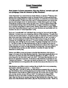 chapter of great expectations how does dickens` narrative  page 1 zoom in