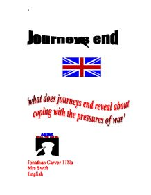 journeys end by rc sheriff essay Is stanhope the hero of journey's endexplore the ways in which sheriff presents journeys end - rcsherriff - character of stanhope com/essay/journeys-end.