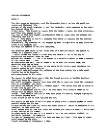 henry v essays gcse Gcse coursework essay ilham mukhtar what kind of man was henry king henry v's character in shakespeare's play 'henry v' is very ambiguous he is very different in each and every speech he made we see a completely new henry in every one of the speeches so to get a better understanding of his character i will.