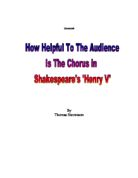 discuss how shakespeare presents henry and The first part of king henry the fourth shakespeare homepage | henry iv, part 1 pupil age of this present twelve o'clock at midnight from eastcheap prince henry.
