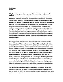 characters within king lear essay Critical essay of shakespeare english literature essay  king lear, are that the characters have the  universalities incorporated within king lear.