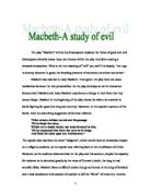 macbeth is a play about the conflict between good and evil  macbeth a study of evil