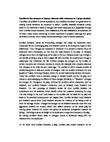 Conflict is the essence of drama essay