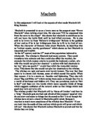macbeth critical essay gcse english marked by teachers com macbeth essay