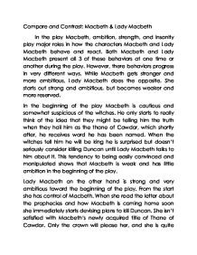 compare and contrast macbeth lady macbeth gcse english  page 1 zoom in