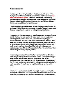 a letter from lady macbeth to her husband gcse english marked  page 1