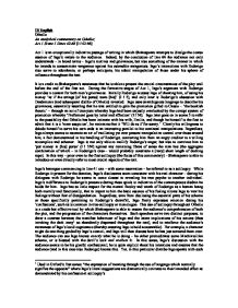 Hamlet Critical Commentary - Essay