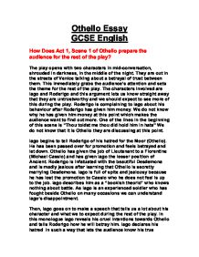 How Does Act  Scene  Of Othello Prepare You For The Rest Of The  How Does Act  Scene  Of Othello Prepare You For The Rest Of The Play   Gcse English  Marked By Teacherscom