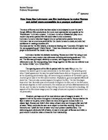 Baz luhrmann romeo and juliet opening scene essay