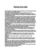Romeo And Juliet The Starcrossed Lovers Are Doomed From The  Related Gcse Romeo And Juliet Essays Compare And Contrast Essay Topics For High School also Essay On Cow In English  Essay My Family English