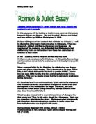 how shakespeare presents romeo's feelings in