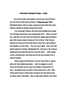 character analysis example essay