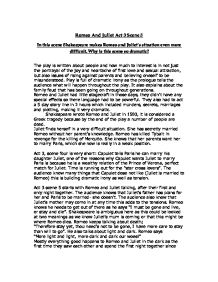 Romeo and juliet essays gcse