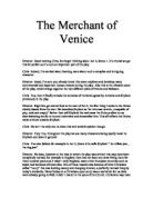 Merchant venice anti semitic play essay