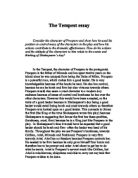 the winters tale and the tempest shakespeare essay Free essay: the winter's tale by william shakespeare shakespeare creates  many  significant romeo and juliet, much ado about nothing, or the tempest.