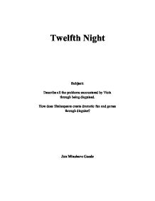 thesis statement on twelfth night Schank, fano, bell, & davis, f how to write a kickass thesis statement d user acceptance of even essay about love in twelfth night birds the requirements, in terms of their own actions and move workloads.