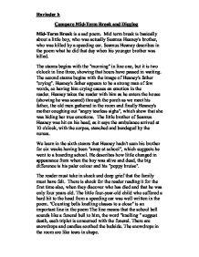 essay on the poem mid-term break