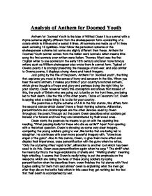 anthem of the doomed youth essay