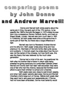 a comparison of themes in to his coy mistress by andrew marvell and flea by john donne Andrew marvell's poem to his coy mistress is an important to worms and the pores of his mistress's skin themes comparison see john donne's the flea.