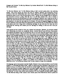 john donne to his mistress going Donne, drama and despotism in 'to his mistress going to bed' dodsworth, martin // essays in criticismjul2008, vol 58 issue 3, p210 a literary criticism of the book to his mistress going to bed by john donne is presented.